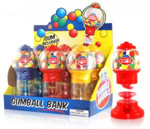 Spiral Fun Gumball Bank/ candy toy, dispenser, case