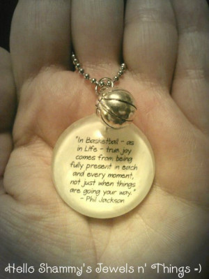 Phil Jackson BASKETBALL Quote Necklace.