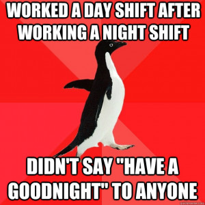 quote working night shift