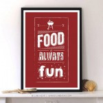 Never trust a skinny cook.Kitchen Quote with Typography Print by Lab ...