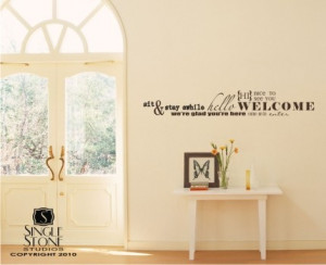 Wall Decal Quote Welcome Word Collage - Vinyl Text Sticker