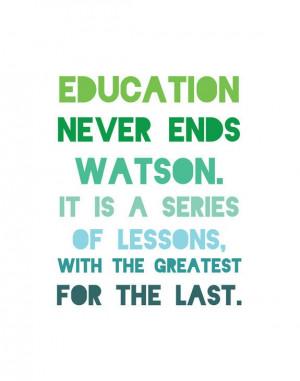 Sherlock Holmes Print - Watson - Arthur Conan Doyle Quote