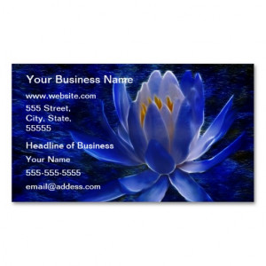 Blue Lotus Flower Business Card Templates