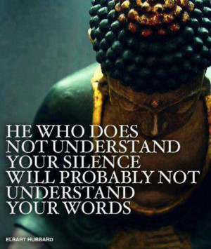 Silence speaks volumes.