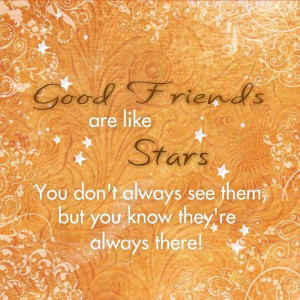 Friends Quote Good Friends are like Stars by catalyst54 on Etsy, $29 ...