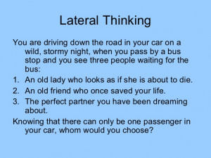 Logical Thinking Puzzles Lateral thinking puzzles