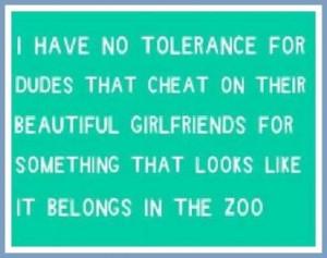 Zero tolerance!