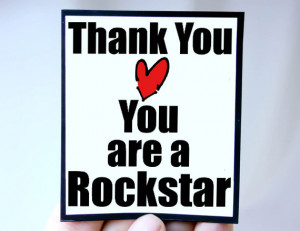 ... thank you quote magnet quote thank you you are a rockstar magnet