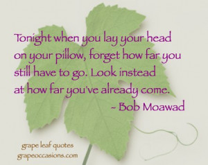 Grape Leaf Quotes