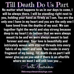 Till Death Do Us Part Quotes