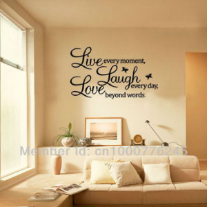 ... Wall Stickers Art PVC Wall Decal Home Living Room Wall Decor Free