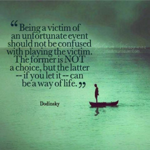 never be a victim