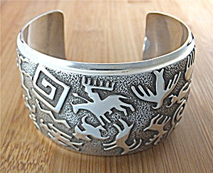 BEN NIGHTHORSE CAMPBELL Sterling Silver Cuff USA Image1