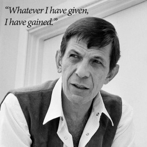 Goodbye to Leonard Nimoy , who died Friday at age 83. You have been ...