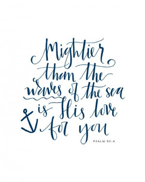 Calligraphy Nautical Bible Verse Print by AMEdetails on Etsy, $10.00