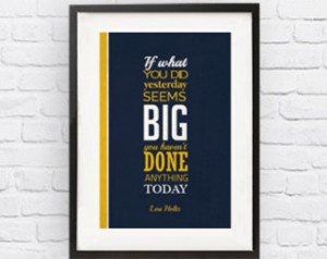 Lou Holtz Notre Dame Fighting Irish Inspirational Big Quote Poster ...