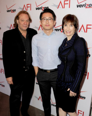 Gale Anne Hurd, Greg Nicotero and Steven Yeun