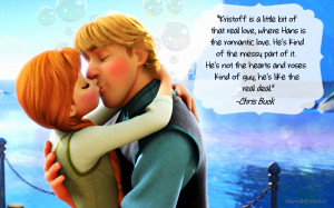 Frozen Anna and Kristoff + quotes