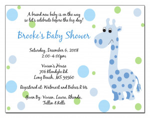 wording for baby shower invitations template T7UeWaWz