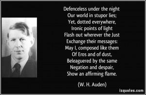 Auden Quote