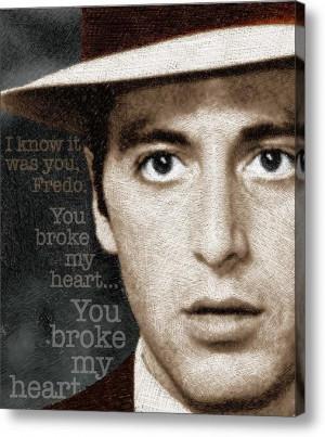Al Pacino As Michael Corleone And Fredo Quote Canvas Print / Canvas ...