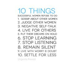 ... Stop learning 7. Stop listening 8. Remain silent 9. Live with worry
