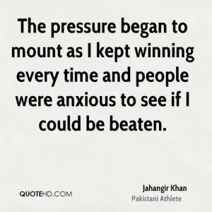 Jahangir Khan Quotes