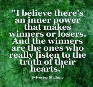 Quote on winners and losers by Sylvester Stallone