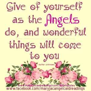 Angel imagequotes, sayings, blessings, poems