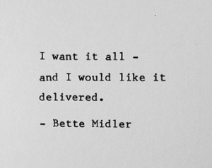 Bette Midler Beaches Quotes