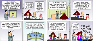 Dilbert experiences change management