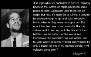 Malcolm X's view on capitalism