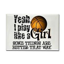 Girls Basketball Quotes Fridge Magnets