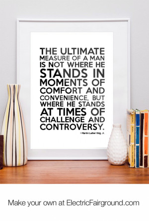 Martin Luther King, Jr. Framed Quote