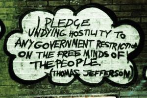 Photography Print - Freedom Graffiti, London - Thomas Jefferson Quote ...
