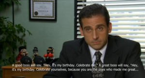 The Office Season Quotes Michael Birthday Scott You