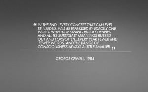 1984 brainwashing quote?