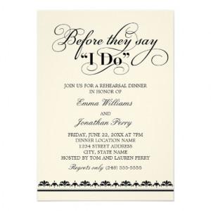 Wedding Rehearsal Dinner Invitation | Wedding Vows from Zazzle.com
