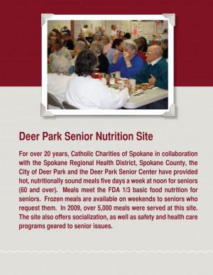 Senior Nutrition Program Menus