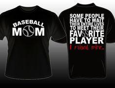 Proud Baseball Mom Favorite Player Tshirt www.etsy.com ...