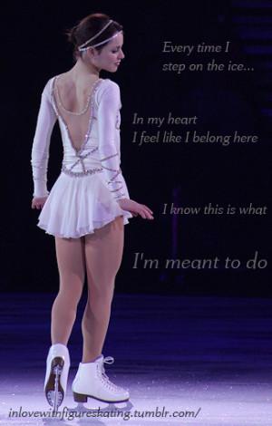 ... ice skating figure skating inspiration quote sasha cohen motivation