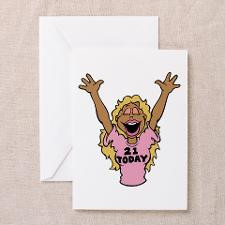 21 Year Old Blonde Birthday Greeting Cards (Packag for