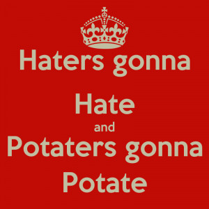 And Cause Haters Gonna Hate