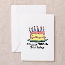 Happy 100th Birthday - Personalized! Greeting Card