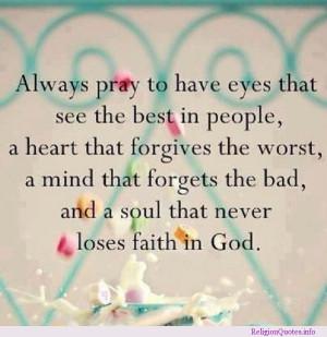 Never lose faith in God!