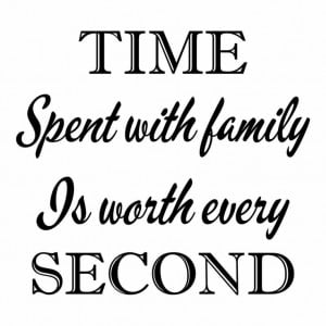 TIME SPENT WITH FAMILY Vinyl Wall Art Quote Decal Words Lettering ...