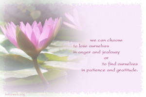 Picture quotes We can choose to lose ourselves in anger and jealousy ...