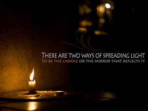 Quote,candle,light,dark,dark room,mirror