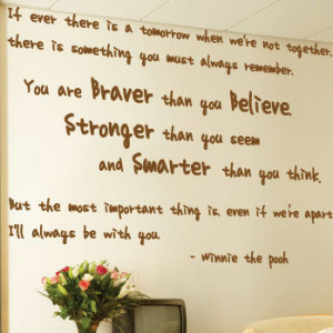 Winnie the Pooh Wall Art Quotes / Wall Stickers / Wall Decals / Wall ...
