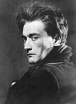 portrait of Artaud, taken by photographer Man Ray c. 1926.